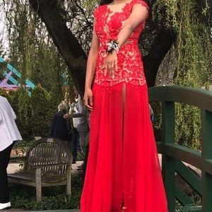 Red MacDuggal Prom Dress